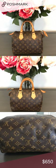 🌷Louis Vuitton Speedy🌷 LV Speedy 25 in great condition. Couple scuffs on the bottom of the bag & small water stain on the inside of the bag. Has been conditioned monthly and kept in a duster. No emails or texts please. Also, feel free to ask for more photos. 100% Authentic. Louis Vuitton Bags Satchels