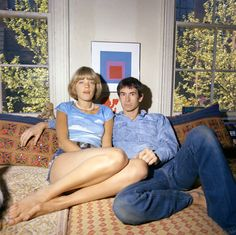 Tony & wife, Berry, at home in New York.