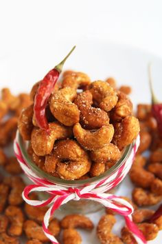 Sweet and Spicy Roasted Cashews are a perfect, wholesome snack for cooler weather. Honey chili powder give the yummy cashews their sweet, spicy and crunchy coating.
