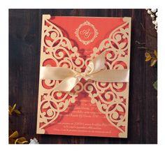 Convite de Casamento Coral <3