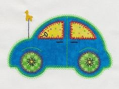 Accuquilt Go! Cute Cars 2 Set - 5x7 | What's New | Machine Embroidery Designs | SWAKembroidery.com VStitchDesigns