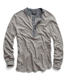 Grey Heather Classic Henley