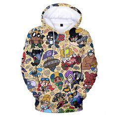 Brawl Stars – Fansholiday.co.uk Print Jacket, Hoodies, Sweatshirts, Fancy Dress, 3d Printing, Cosplay, Unisex, Pullover, Stars