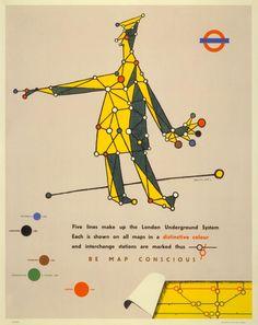 Poster Be map conscious, di Lewitt Him, 1945