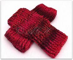Chunky Ribbed Reversible Fingerless Gloves ~ AG Handmades