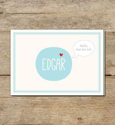 Geburtskarte | Edgar