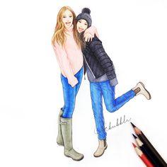 Two best friends hugging drawing. Best Friends Forever, Best Friend Hug, Two Best Friends, Best Friend Goals, True Friends, Best Friend Drawings, Girly Drawings, Cool Drawings, Best Friend Sketches