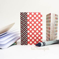 How to make Mini Journals using Project Life Cards + Washi Tape