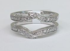 White Gold Solitaire Enhancer Ring Guard Wrap (0.33ct. tw)- RG221585290629