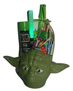 c839cfdf7a6 Yoda Star Wars Jedi Master Halloween Basket Gift Bundle Pack in keepsake  basket with action figure