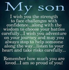 Moon Quotes Discover 10 Best Mother And Son Quotes Sons are a blessing and here are 10 quotes for mothers to express their love. We capture the love a mother feels for her son with the I love my son quotes. Love My Son Quotes, I Love My Son, Great Quotes, Quotes To Live By, Life Quotes, Quotes Quotes, Mothers Love For Her Son, Mother Son Quotes, Mothers Love Quotes