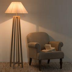 Lampadaire blanc H 155 cm | Maisons du Monde