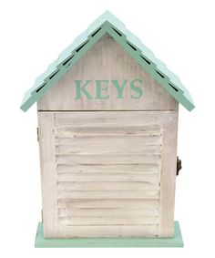 Wood Key Holder Box Wall Plaque