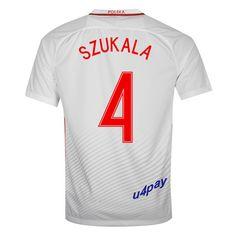 Lukasz Szukala 4 2016 Poland Jersey UEFA Euro Home Soccer Jersey 2016 17 Poland  Soccer Jerseys 243a2698ba