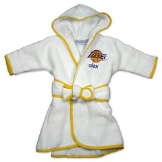 Designs by Chad  amp  Jake Los Angeles Lakers Infant Toddler Kids  Personalized Robe ceddc0867