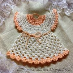 FREE PATTERN ~ C ~ Little Miss Stitcher: Vintage Crocheted Dress Potholder