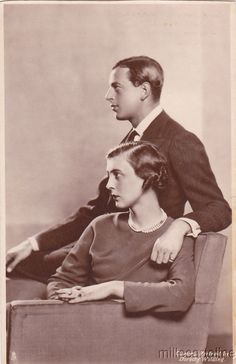 Duke of Kent and Princess Marina of Greece.  Prince George, the Duke of Kent, was an uncle of Queen Elizabeth.  Princess Marina of Greece and Denmark was a first cousin of Prince Phillip, the Duke of Edinburgh.  This royal couple had three children.  The three Kent siblings are all still living.