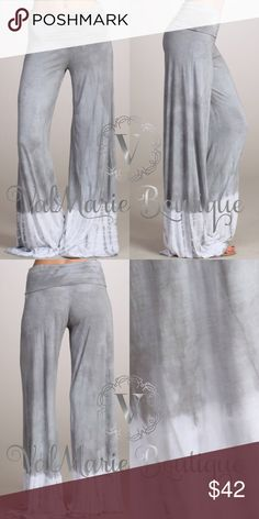 """GORGEOUS PREMIUM PALAZZO LOUNGE PANT MADE IN USA AND PREMIUM QUALITY. WILL NOT BE PRICE DROPPED AS THESE WERE EXPENSIVE. Made of mega soft stretchy modal. 95% modal rayon, 5% spandex. So gorgeous. Fits true to size. S(2-4) M(6-8) L(10-12) - price firm. Inseams: S 33"""", M 33.5"""" L34"""" ValMarie Pants"""