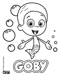 One Of The Bubble Guppies Goby Coloring Page Printable Game