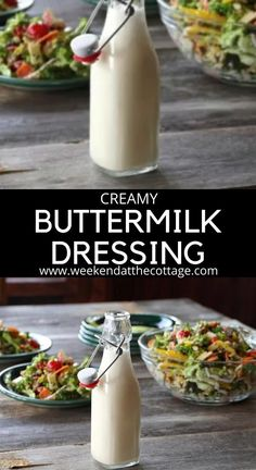 Best Dressing Recipe, Best Salad Dressing, Creamy Salad Dressing, Homemade Dressing, Vinaigrette Dressing, Salad Dressing Recipes, Salad Recipes, Salad Dressings, Buttermilk Dressing