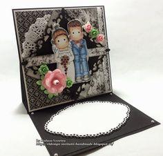 RL Design - Invitatii si felicitari Handmade : Felicitare pentru o viitoare mireasa (Handmade card for a future bride)