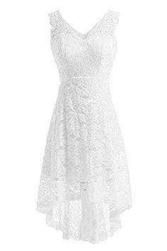 Dressyu Lace Mermaid Garden Wedding Dresses Pocket Rustic...