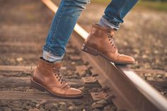 Another look at Thursday Boot Co.'s Captain Boots. #thursdayboots #leather #boots #outside