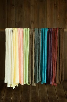 Stretch Knit Wraps. 5 PACK. Choose from 32 Colors. Newborn Photography Prop. Baby Wrap. Ready to Ship.