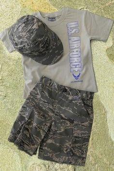 Kid's Air Force T-Shirt And Abu Camo Shorts Sethttp://www.armynavyshop.com/prods/t33300.html