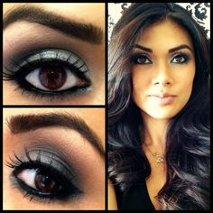 use Mary Kay's Polished Stone, Coal, and Espresso eye shadow. To get the look email me at abolinder1@marykay.com