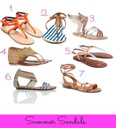 Shopping list. Summer Sandals