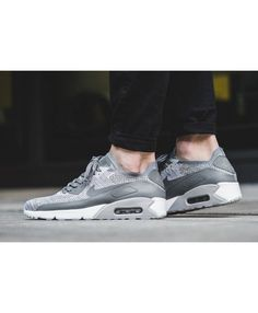 more photos 2ea10 b15a7 Nike Air Max 90 Ultra 2 0 Flyknit Pure Platinum Cool Grey Shoes Style is  now very hot type, very trendy, by a lot of young people welcome.