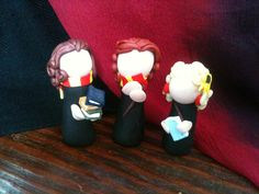 Harry Potter Tiny Luna Hermione and Ginny by PapercraneFlint, $22.00