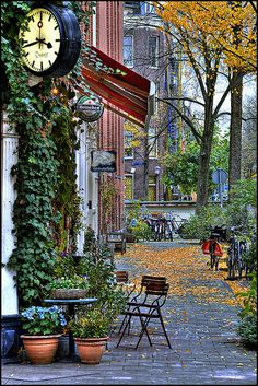 Amsterdam, The Netherlands, in the fall.