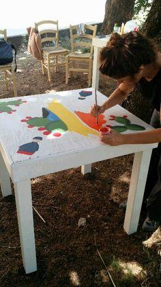 Acrilico su legno Working progress