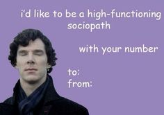 Sherlock has pick up lines now lol Sherlock Bbc, Sherlock Tumblr, Sherlock Fandom, Watson Sherlock, Jim Moriarty, Sherlock Quotes, Sherlock Cake, Nerdy Valentines, Funny Valentines Cards