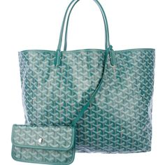 Goyard St. Louis Tote Coated Canvas Pm Green