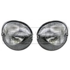 HEADLIGHTSDEPOT Chrome Housing Halogen Fog Lights Compatible with Pontiac Grand Prix Solstice Includes Left Driver and Right Passenger Side Fog Lights
