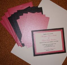 homemade wedding invites | homemade wedding invitations