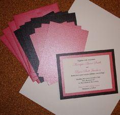 homemade wedding invites | homemade wedding invitations