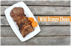Cooking and Drinking doTERRA Essential Oils: Wild Orange Chops, Sunshine Water and More! Kitchen Hacks, Pork Chops, Cooking Tips, Grilling, Food And Drink, Doterra Oil, Banana, Orange, Eat