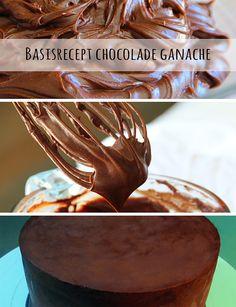 De perfecte CHOCOLADE GANACHE... puur, melk én wit! Maak het nu zelf met ons recept