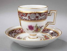 Meissen Porcelain Cabinet Cup and Saucer c. 1880