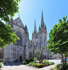 Quimper ~ Finistere ~ Brittany ~ France ~ Cathédrale Saint-Corentin de Quimper ~ Its construction took two centuries.