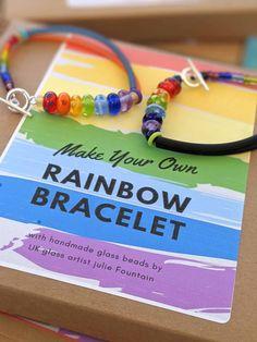 Rainbow Bracelet Kit ... Lush Kits - Emerald / Fuchsia