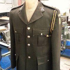 Irish Army uniform nearly finished. Army Uniform, Mens Suits, Military Jacket, Ireland, Irish, Trousers, Menswear, Jackets, Fashion