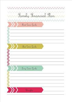 Another blog to help me with my finances - with some free printables - this one is about setting financial goals - if this me be successful in improving my health and fitness, then setting goals has to help with my finances too right? Financial Planning