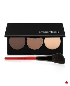 Contour makeup is made easy (finally!) thanks to Smashbox. The Step-By-Step Contour Kit defines cheekbones and sculpts your jawline with blendable powders in universal shades to match your skintone.