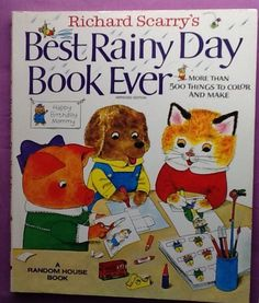 RICHARD SCARRY'S Best Rainy Day Book Ever 1983 Vintage Activity Book