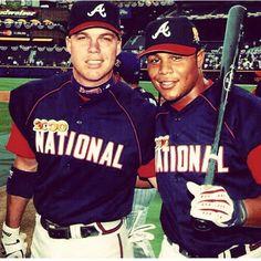 Chipper & Andruw-All Star Game 2000 in Atlanta! Baseball Fight, Braves Baseball, Baseball Players, Baseball Stuff, Mlb Players, Sports Baseball, Atlanta Braves World Series, John Fogerty, Chipper Jones